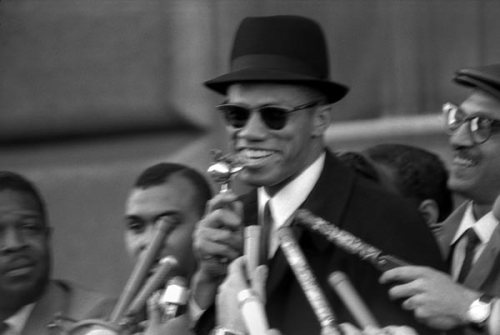 Malcolm X at NYC Rally in 1964