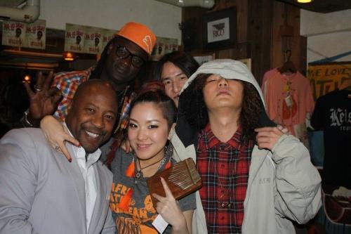 Doug w/Ahya and the band
