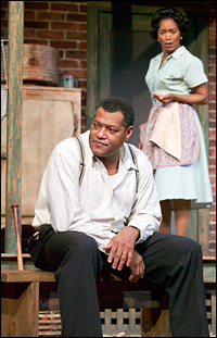 Laurence Fishburne & Angela Bassett in Fences