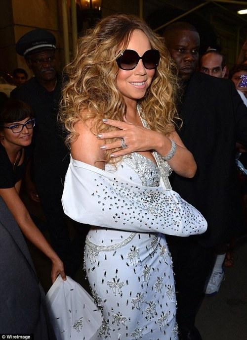 Mariah in sling