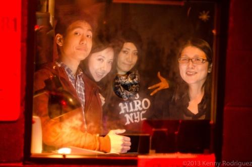 Casher Team - Jiro, Azusa, Sally Mo & Yasuko Ito  - photo by Kenny Rodriguez