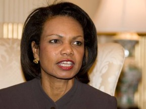 Condoleezza Rice - Wood Horse