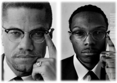Malcolm X and his grandson