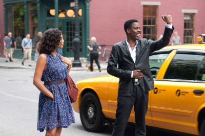 Chris Rock hailing a cab