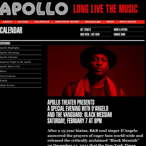 D'Angelo at the Apollo