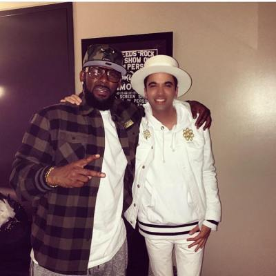 R Kelly and DJ Cassidy at Barclays Center